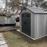 Lifetime 8 ft. x 5 ft. Steel and Polyethylene Storage Shed